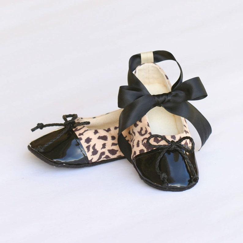 17608725d Cheetah Baby Shoe Animal Print Toddler Ballet Slipper Little
