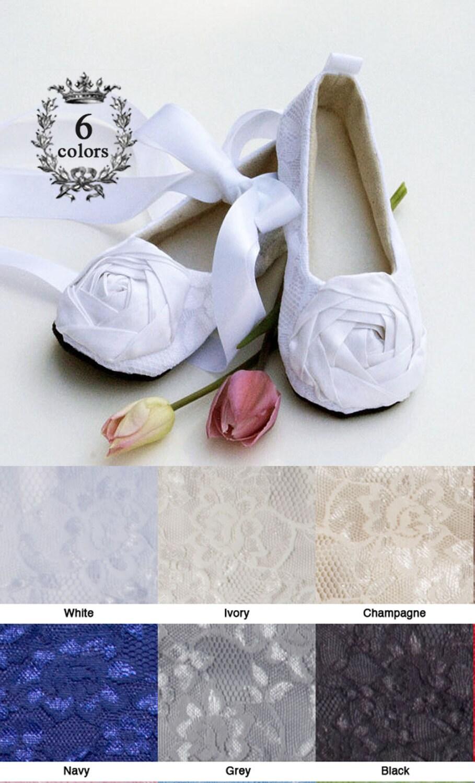 White Toddler Flower Girl Shoe Easter Baby Ballet Slipper Etsy