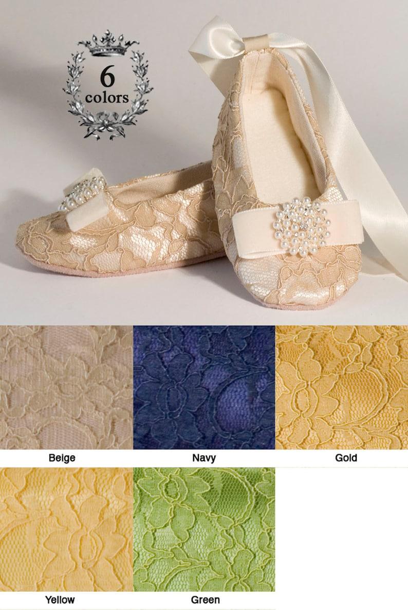 81d7130cd Ivory Flower Girl Shoes Baby Wedding Ballet Slipper Beige