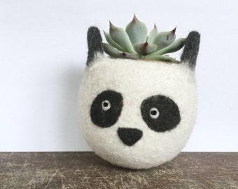 Animal planter | Panda cute planter,  Cactus planter, mini planter, desk decoration, panda lover, cubicle organization, fathers day gift