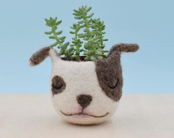 Dog lover gift, pitbull, Pet gift, gift for her, succulent planter, Cactus planter gifts, dog planter, dog vase
