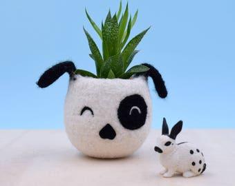 Dog lover gift, Planter, gardener gift for her, succulent planter, Small succulent pot, Cactus planter gifts, dog vase