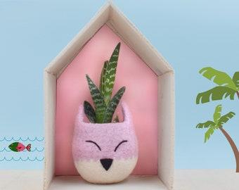 Baby shower gift | Kids room decor, Fox Succulent pots, Woodland nursery decor, Succulent planter, Animal planter, Nursery decor boy
