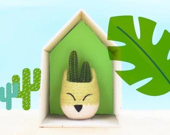Woodland nursery decor | Succulent planter, Baby shower gift, Fox Succulent pots, Animal planter, Kids room decor, Nursery decor boy