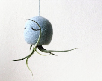 Air plant holder | Octopus planter, air plant containers, hanging planter gift, Airplant jellyfish, Octopus airplant hanger, tillandsia