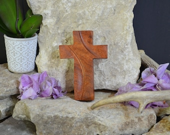 Solid Wood Wall Cross; Texas Mesquite; Unique;  Back to School;Prayer Cross;Wedding Favor; Bridesmaid Gift;FREE GROUND SHIPPING; cc5-1072420