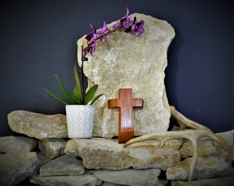 Solid Wood Wall Cross; Texas Mesquite; Unique;  Back to School;Prayer Cross;Wedding Favor; Bridesmaid Gift;FREE GROUND SHIPPING; cc5-3072020
