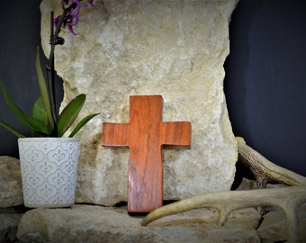 Solid Wood Wall Cross; Texas Mesquite; Unique;  Back to School;Prayer Cross;Wedding Favor; Bridesmaid Gift;FREE GROUND SHIPPING; cc5-4072020