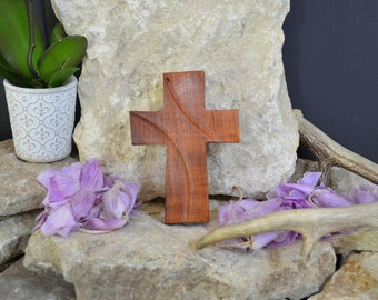 Solid Wood Wall Cross; Texas Mesquite; Unique;  Back to School;Prayer Cross;Wedding Favor; Bridesmaid Gift;FREE GROUND SHIPPING; cc5-3072420