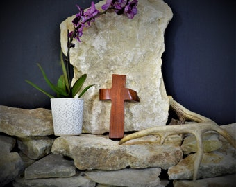 Solid Wood Wall Cross; Texas Mesquite; Unique;  Back to School;Prayer Cross;Wedding Favor; Bridesmaid Gift;FREE GROUND SHIPPING; cc5-2072020