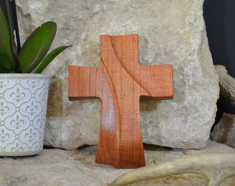 Solid Wood Wall Cross; Texas Mesquite; Unique;  Back to School;Prayer Cross;Wedding Favor; Bridesmaid Gift;FREE GROUND SHIPPING; cc5-4072220