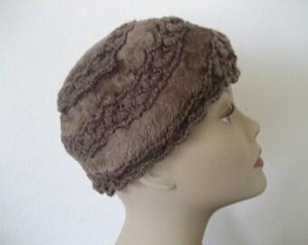 Vintage Brown Musketeer Hat Bucket Hat