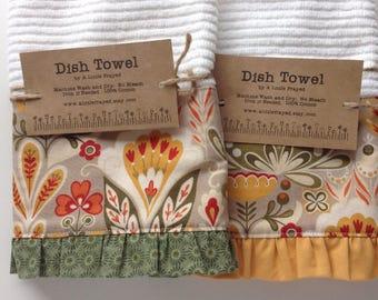 Dish Towel / Kitchen Bar Mop Towel / Fall Floral Kitchen Towel