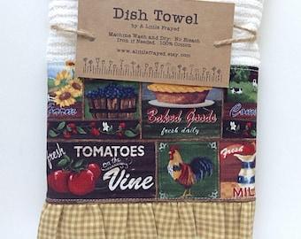 Dish Towel / Kitchen Bar Mop Towel / Farm Kitchen /Homegrown Farmhouse Kitchen Towel