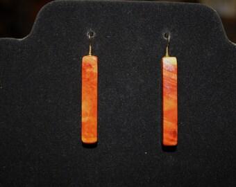 Flaming Box Elder Earrings
