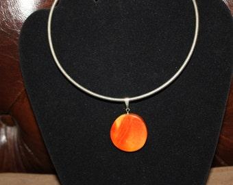 Flaming Box Elder Slide for Necklace