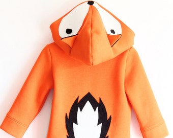 Fox costume, carnival costume, fox hoodie, fox sweatshirt, fox sweater kids, birthday fox, foxes, boy birthday gift, children hoodie, jumper
