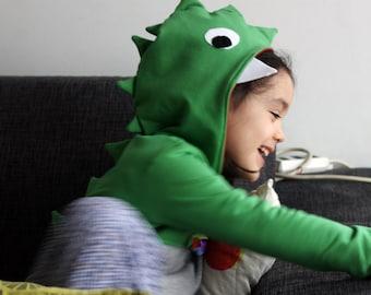 Dinosaur costume, dinosaur sweatshirts, dinosaur hoodie, dinosaur sweater, Halloween costume, boys clothes, birthday boy dinosaur, cosplay