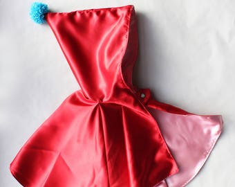 Little red riding hood cape, halloween costumes, baby girl costumes, baby cape, red cloak, girls cape, carnival costume, ready to ship, IT