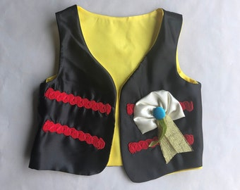 Pirate costume. Baby pirate vest.