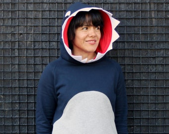 Shark costume adult, shark hoodie, shark sweatshirt, jaws sweatshirt, jaws hoodie, cosplay, shark lovers, Halloween costume, birthday shark