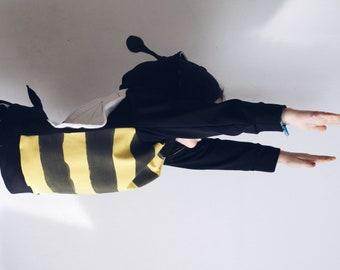 Honeybee children hoodie. Honeybee costume. Sustainable clothing. Made in Italy