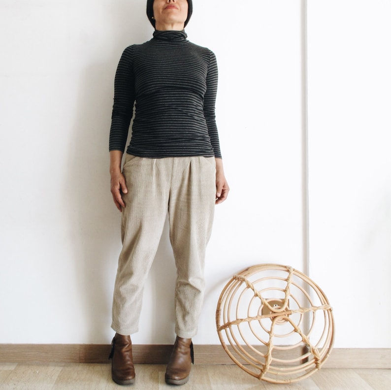 Corduroy women trousers corduroy pants tapered pants winter image 0