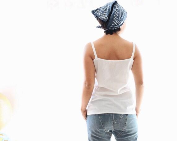 meet 6e322 1524c Canotta in batista di cotone, canotta bianca, vestiti estivi, top senza  maniche colore bianco, vestiti donna, abbigliamento sostenibile, MI