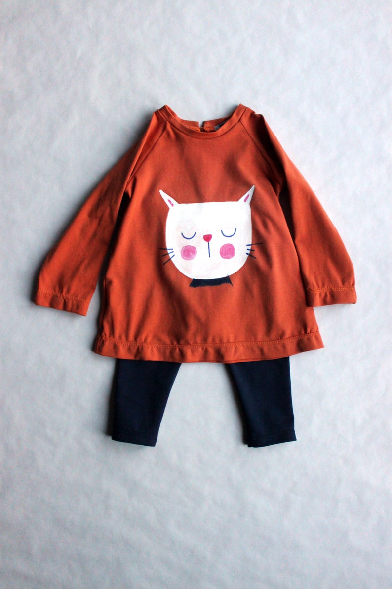 Girls' Clothing (newborn-5t) Provided Dress And Tights Outfit 12-18months Girls