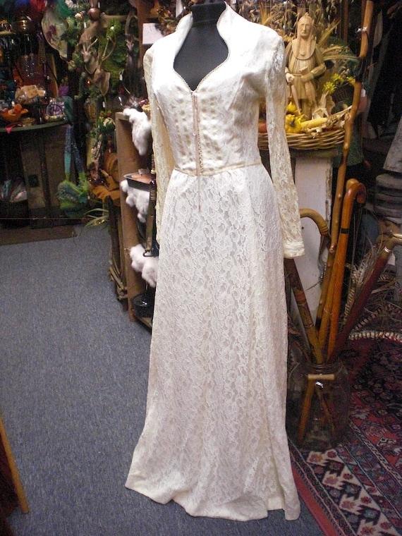 Gunne Sax Style Ecru Prairie Gown   Etsy