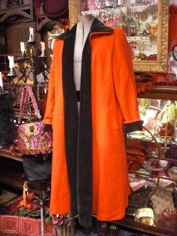 Red And Black Reversible Opera Coat 1940s