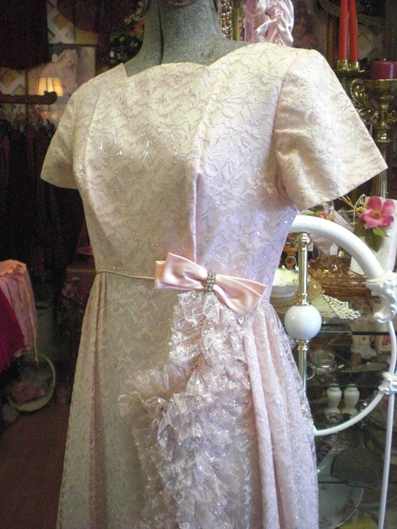 1960's Emma Domb Pink Prom Dress