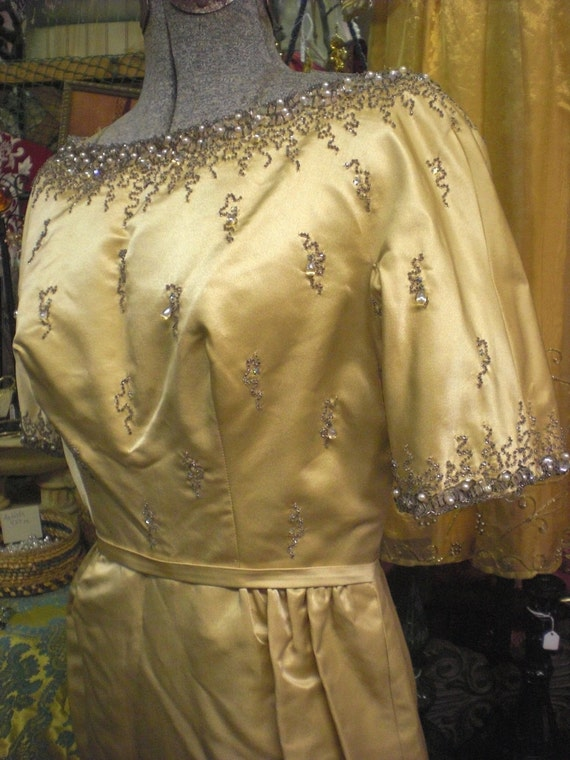 Gold Beaded Gown