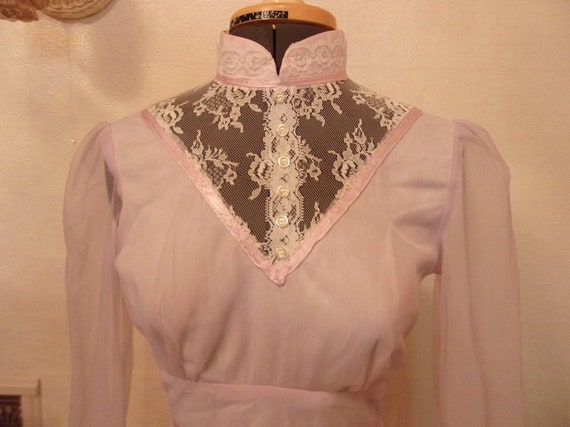 Pale Lavender Bustled 1960's Gown Prom Dress