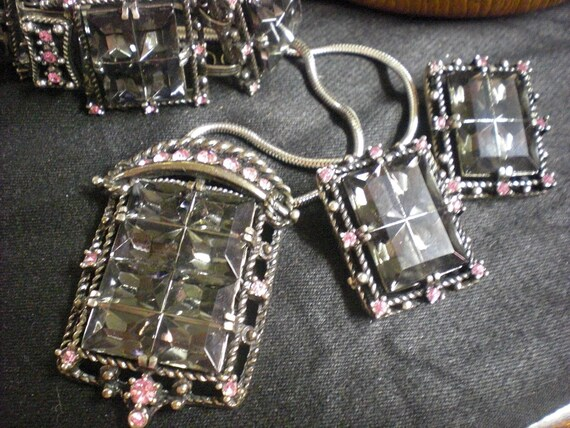 1960s Smoky Jewelry Set