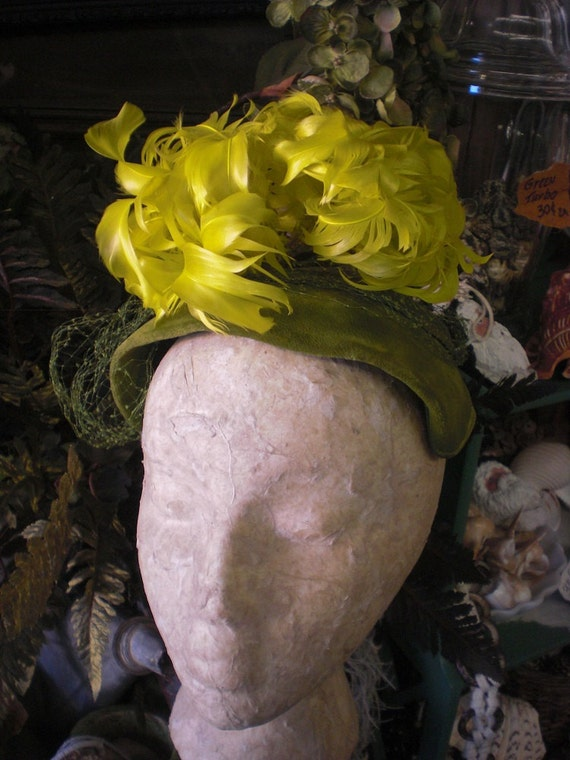 Green And Yellow 1930s Hat