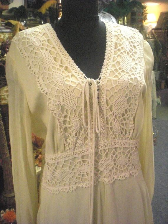 Gunne Sax Style Ivory Dress