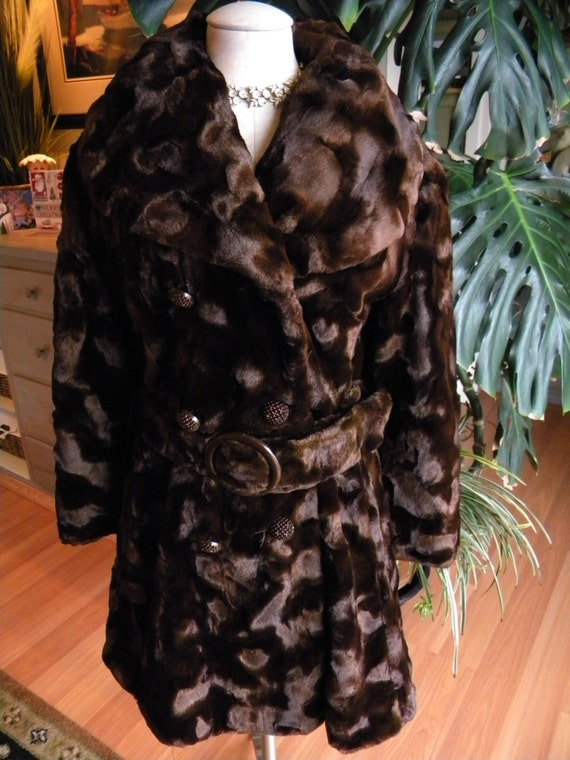 Beautiful imported faux fur coat / jacket / stroll