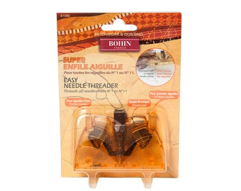 BOHIN Easy Needle Threader at thecottageneedle.com French cross stitch sewing needlecraft hand embroidery patchwork quilting