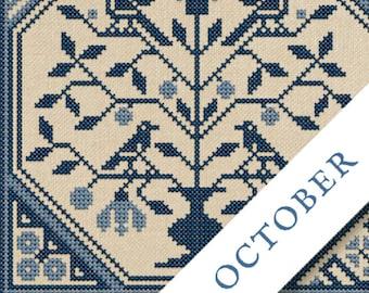 NEW! PDF DOWNLoAD 2021 SaL Fruit Of The Plenty #10 October ONLY digital cross stitch patterns Modern Folk Stitch-a-long
