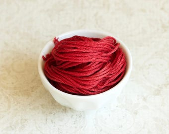 LICORICE RED Classic Colorworks hand-dyed embroidery floss cross stitch thread at thecottageneedle.com