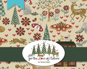 """Ships in December New! RILEY BLAKE For the Love Of Nature 42-pack 5"""" Squares quilting fabric at cottageneedle.com Teresa Kogut"""