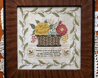 HEARTSTRING SAMPLERY New Every Morning counted cross stitch patterns at thecottageneedle.com