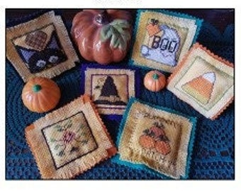 New! CAROLYN MANNING DESIGNS Lil Stitches counted cross stitch patterns at thecottagneedle.com Fall Autumn
