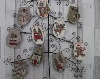 New! THISTLES 12 Weeks To X-Mas #2106 counted cross stitch patterns at thecottageneedle.com Christmas December Winter