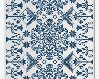 PDF DOWNLOAD The Zimmerman Coverlet digital counted cross stitch patterns at thecottageneedle.com by Modern Folk