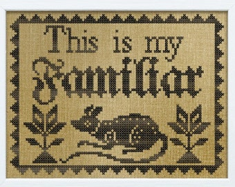New! PDF DOWNLOAD This Is My Familiar digital counted cross stitch patterns by Modern Folk Embroidery at thecottageneedle.com