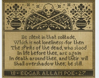 New! PDF DOWNLOAD Spirits Of The Dead digital counted cross stitch patterns by Modern Folk Embroidery at thecottageneedle.com