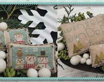 Ships Wk. of 10/24! New! WITH THY NEEDLE Snowball booklet counted cross stitch patterns at thecottageneedle.com