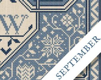 New! PDF DOWNLoAD 2021 SAL The Fruit Of The Plenty #9 September ONLY digital counted cross stitch patterns Modern Folk Stitch-a-long
